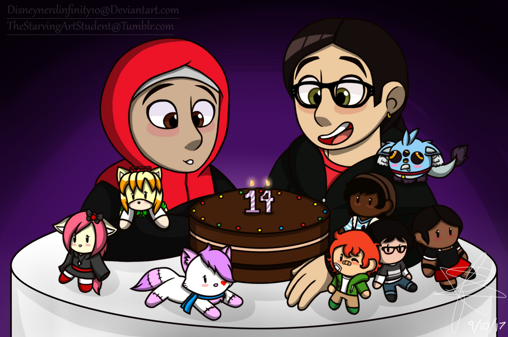 Happy 14th Birthday Ainul! by Infinity-Drawings