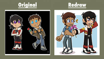 Chibi Klance (Old vs. Redraw) by Infinity-Drawings