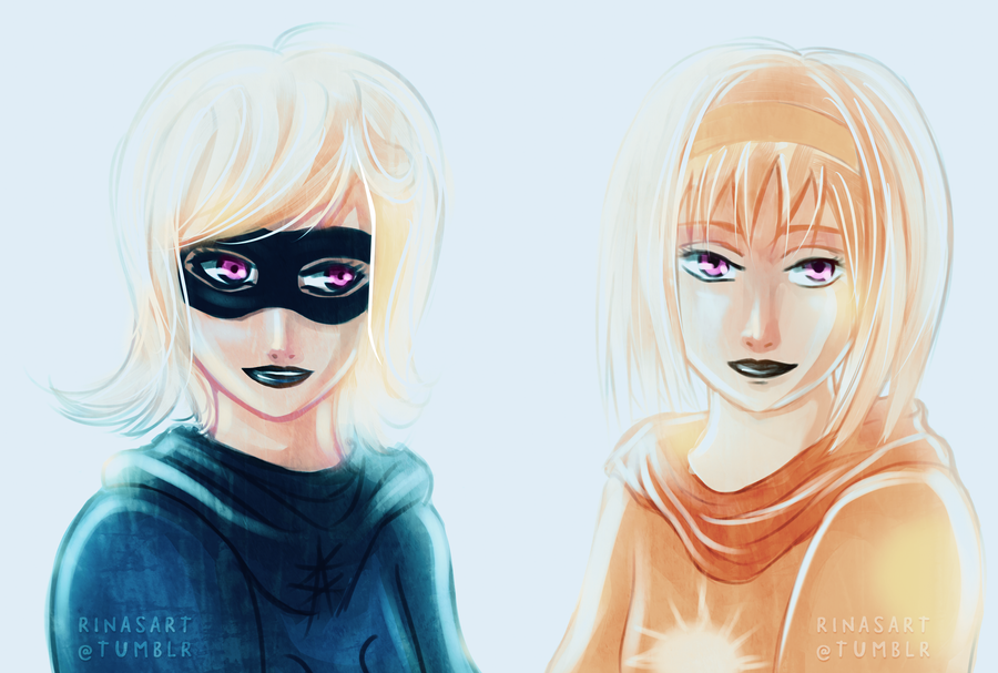 Rose and Roxy by AngelLeila