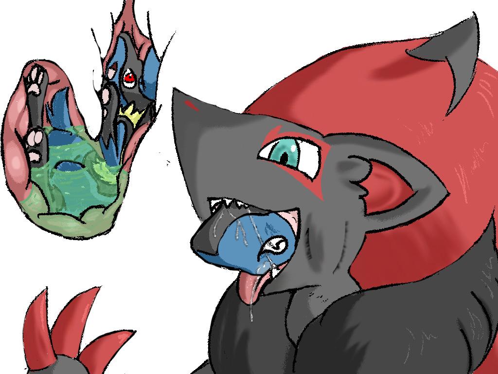 Zoroark And Lucario Vore