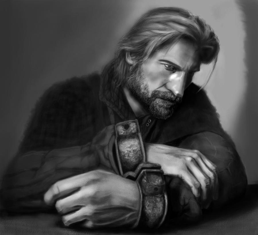 Jaime painting study by Salvaratty