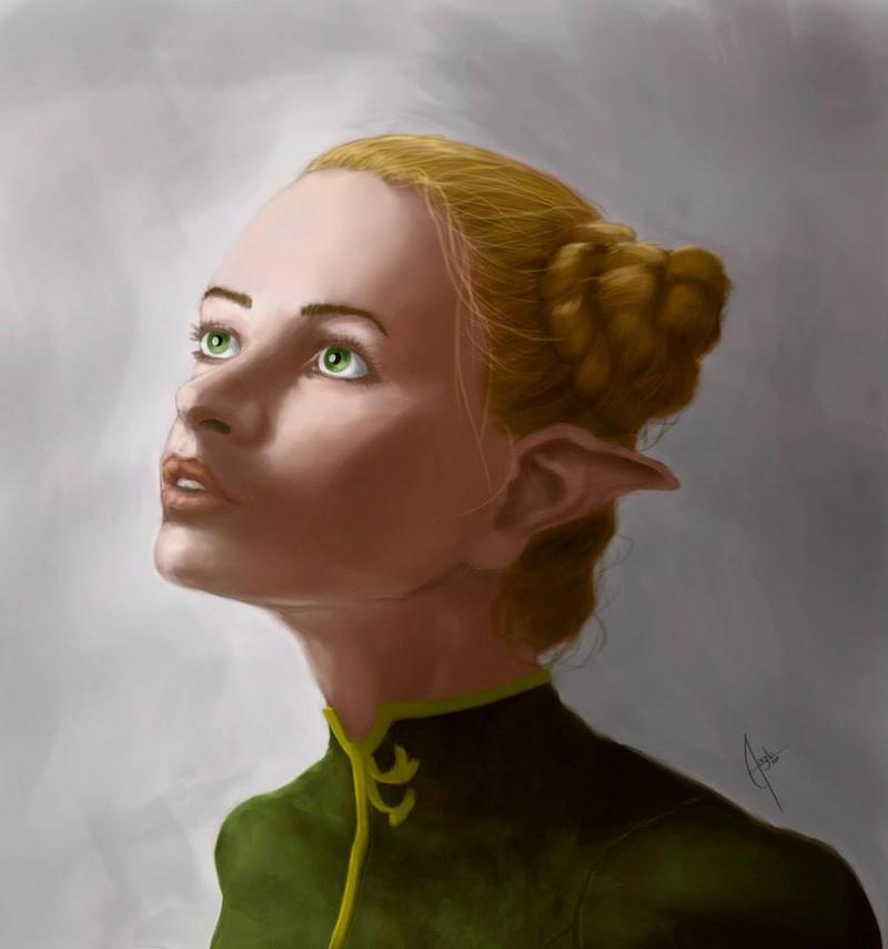 Elf portrait by Salvaratty