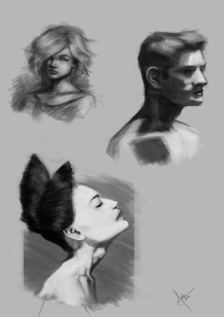 Quick sketches by Salvaratty