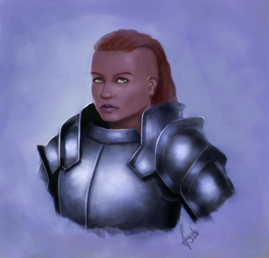 Knight Girl painting pratice by Salvaratty