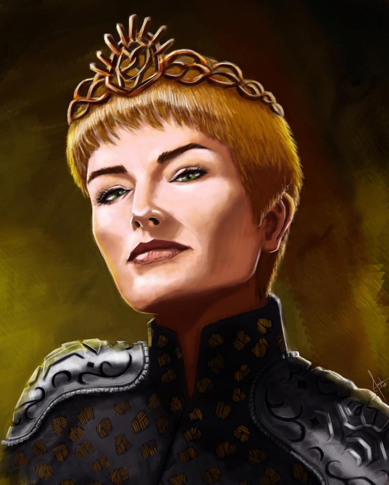 Cersei portrait by Salvaratty