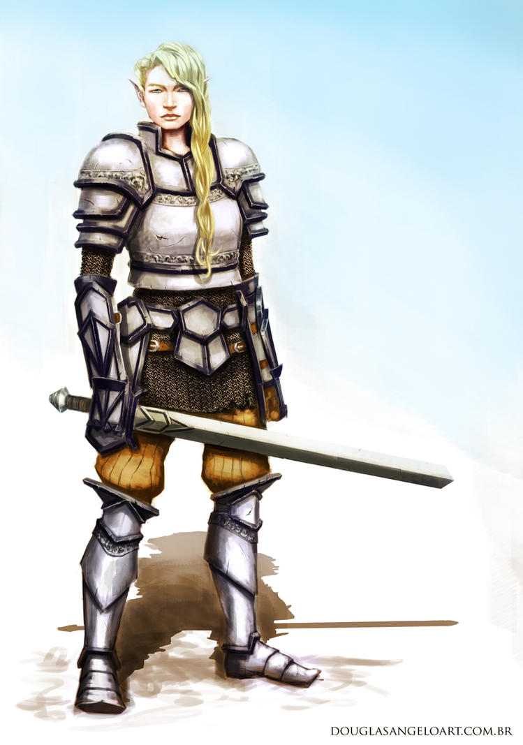 Elf Knight by Salvaratty