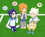 Inazuma Eleven Go - Yukimura, Taiyou and Hakuryuu