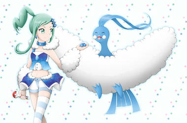 Pokemon - Lisia and Altaria by Eneko-nya