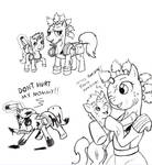 Fallout ponies- Raider and kid