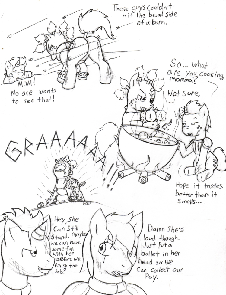 Fallout Ponies Raider And Kid6 By Demon Keychain On Deviantart
