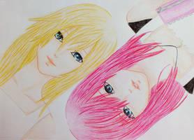 KH: Namine and Kairi by BloodyAlysskokoro