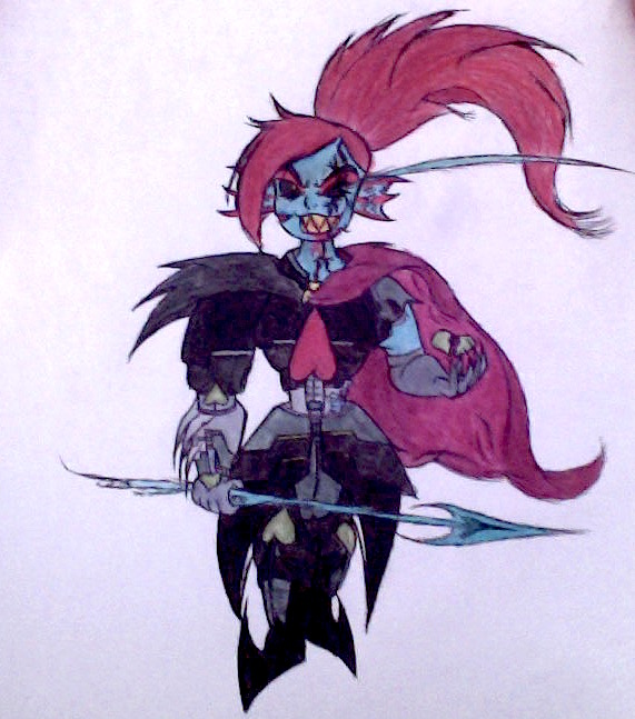 Undyne the Undying (Sombertale, 201X Character) by ThatLuigiBrony