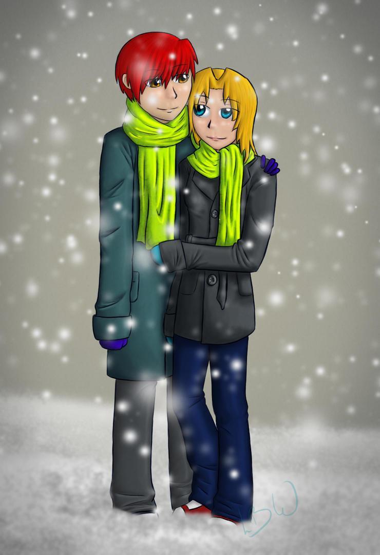 Snow by LunarBlueWolf
