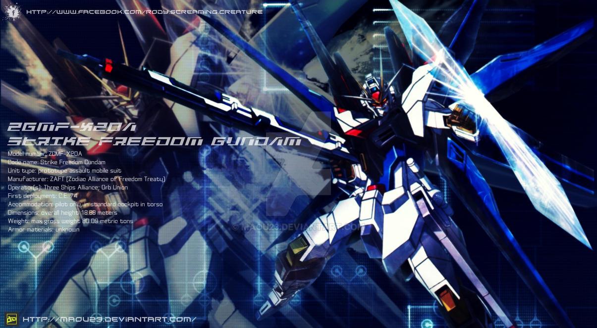 Strike Freedom Gundam by Maou23