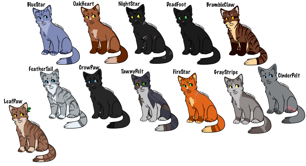 Warrior Cats MIDNIGHT Designs 1 By Wolf3Animations On DeviantArt