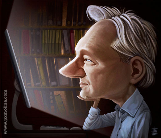 Julian Assange by pxmolina