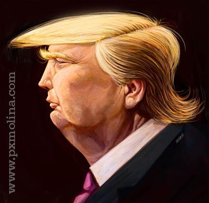 Trump profile by pxmolina on DeviantArt