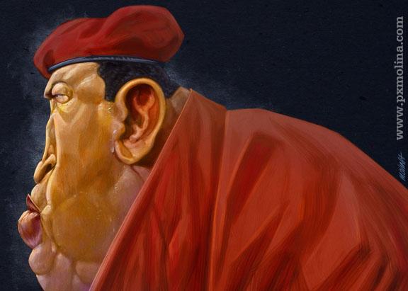 Hugo Chavez by pxmolina