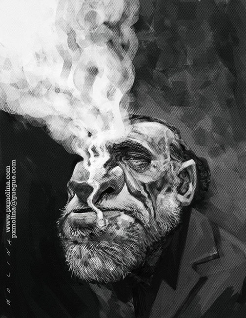 Charles Bukowski by pxmolina