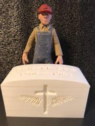 3D printed Ed Gein headstone (Serial Killer) by RIXJoshua