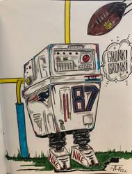 Gronk Droid Star Wars Rob Gronkowski Patriota by RIXJoshua