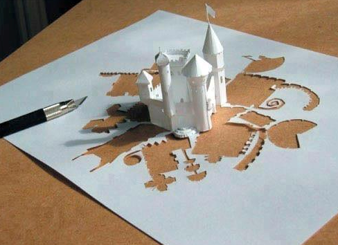 Origami Castle by JDwhack