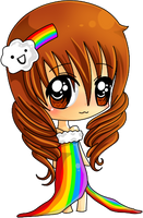 Rainbow Dress by xfe