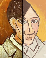 Picasso's self portrait by Looneytaz82