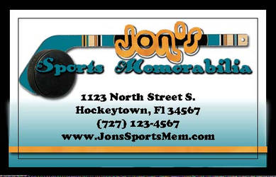 Jon's Business card by Looneytaz82