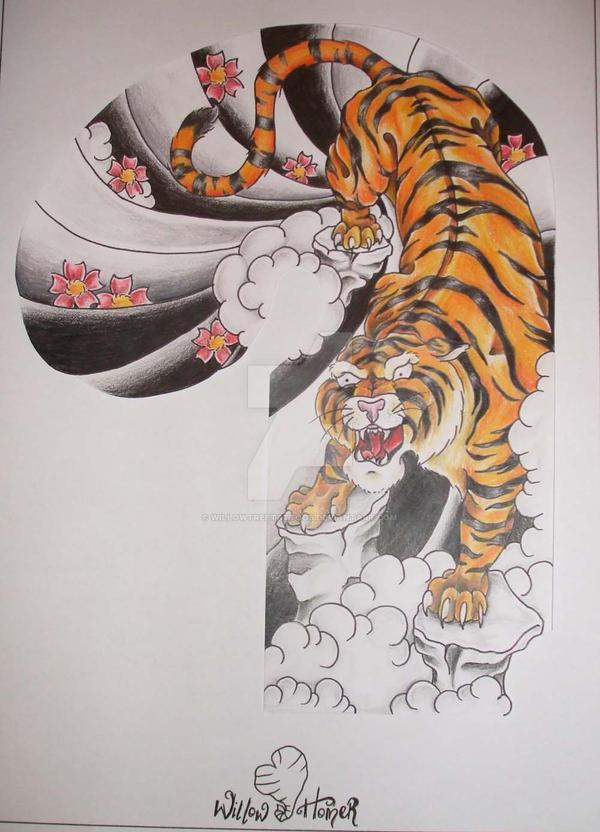Japanese Tiger Half Sleeve By Willowtreetattoos On Deviantart