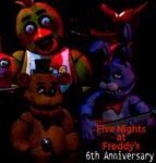 FNaF 6th ANNIVERSARY (Blender) by Monste-Official