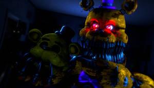 Nightmare Fredbear Render (Blender)