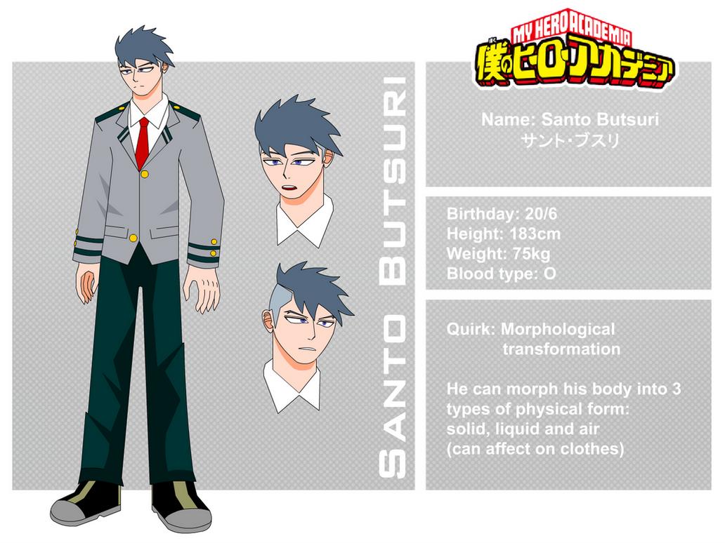 BNHA character: Santo Butsuri by Souliar-Ghoen