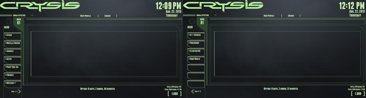 Crysis Rainmeter Theme (WIP)
