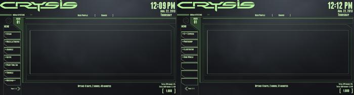 Crysis Rainmeter Theme (WIP) by RedInk853