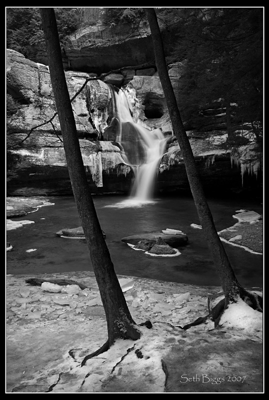 Cedar Falls Ice B+W by MariusStormcrow