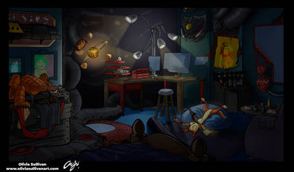 Jak and Daxter room by ZestyOlive