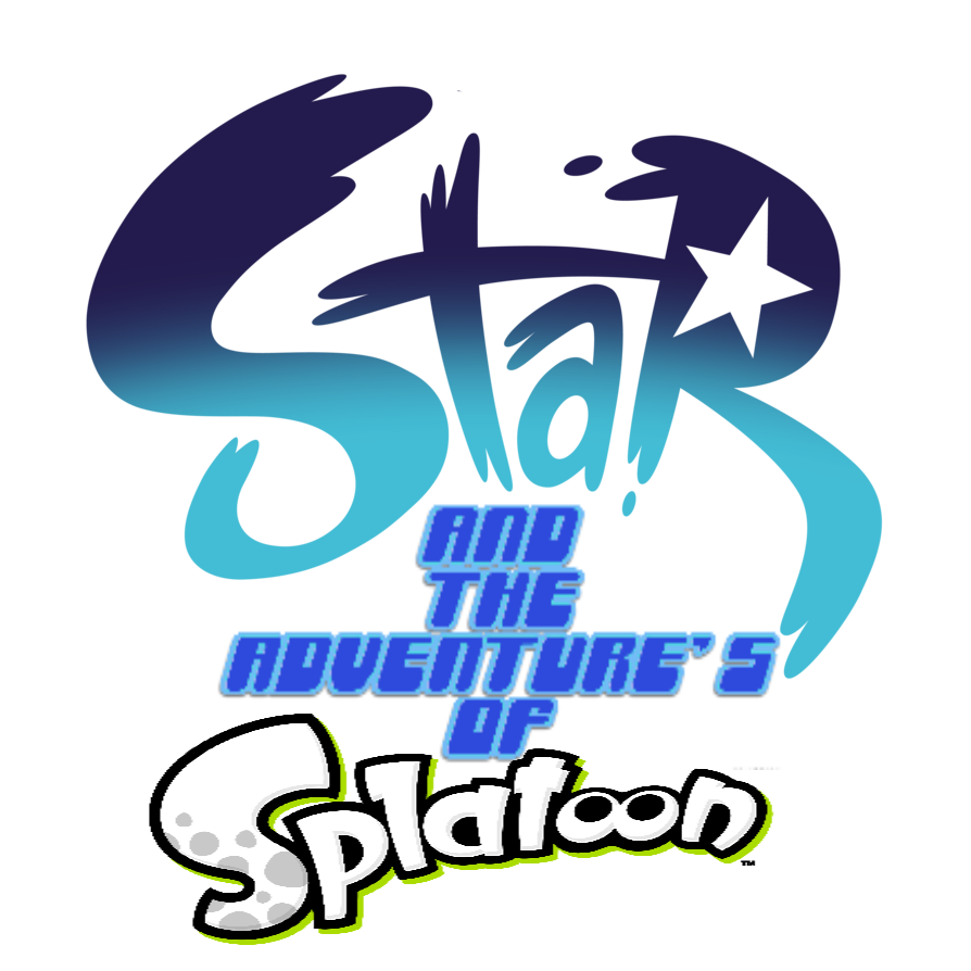 Star And The Adventure's of Splatoon Custom Logo by