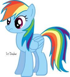 Rainbow Dash Practice Vector 1 by LtDasher