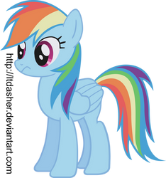 Standing confused Rainbow Dash Vector