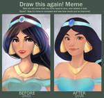 Princess Jasmine (Draw this again)
