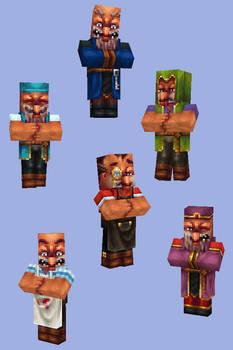 Minecraft villager skins