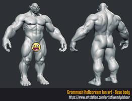 Orc anatomy study by Wayuki