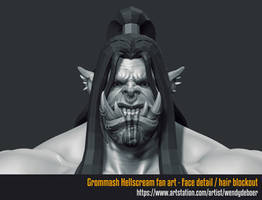 Grommash Hellscream face/hair WIP