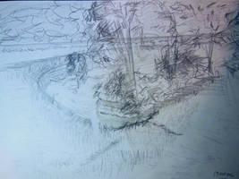 Landscape Sketch Canal