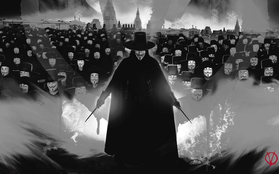 V For Vendetta Mask Wallpaper Army V for Vendetta by SKShigan