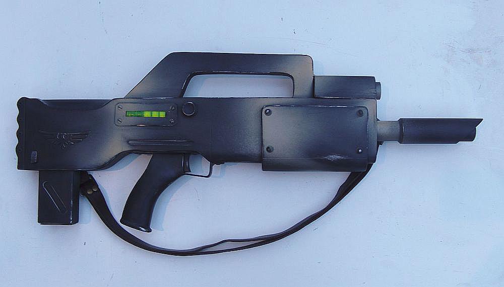 Elysian standard lasgun finished by ElysianTrooper