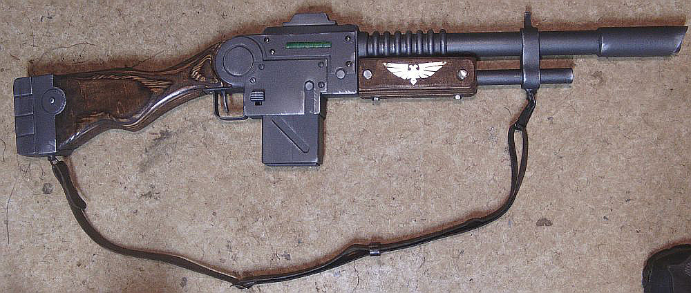 how to make a hellgun 40k cosplay