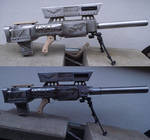 Elysian sniper rifle with second barrel version