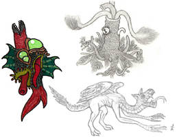 Lovecraftian Beasts and a Dragon
